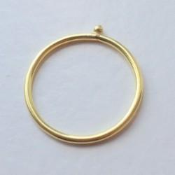 Guldring med guldkugle